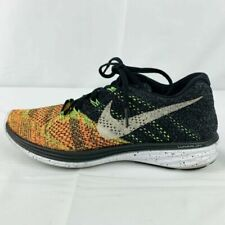 Size 7 - Nike Flyknit Lunar 3 Black Electric Green 2015