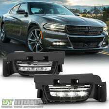 2015 2016 2017 Dodge Charger Factory Style LED Fog Lights Bumper Lamps w/Switch