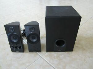 Insignia 2.1 Computer Speaker System NS-PCS41 - Subwoofer & 2 Satellites - WORKS