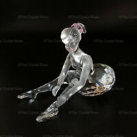 RARE Retired Swarovski Crystal Young Ballerina Sitting 254960 Mint Boxed Ballet