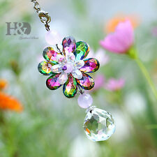 Hanging Suncatcher Flower Crystal Clear Ball Prisms Pendant Window Wedding Decor