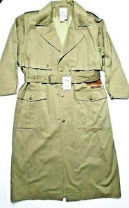 Women's Trench Coat Size 18W Olive Green w/ Leather Trim New w/ Tags SALE!