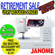 JANOME QXL605.SEWING MACHINE 60 STITCHES & AUTOMATIC THREAD CUTTER.DISPLAY MODEL