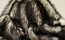 "Faux Fur fake black Frosted tips fabric 60"" Wide sold by the yard upholstery"