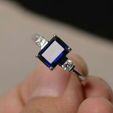 3.00ct Emerald Cut Cathedral Engagement Ring 14k Gold