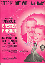 """EASTER PARADE Sheet Music """"Steppin' Out With My Baby"""" Fred Astaire Judy Garland"""