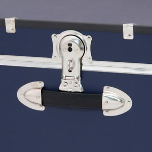 Seward Rover 30 in. Blue Trunk with Wheels and Lock, 12.25 in H x 15.75 in D, En
