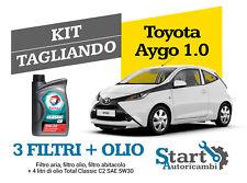 Kit Tagliando Olio Total + Filtri Tecneco Toyota Aygo 1.0 50KW