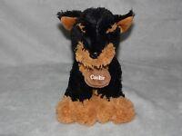 TESCO COOKIE PUPPY DOG SOFT TOY BLACK BROWN COMFORTER DOUDOU