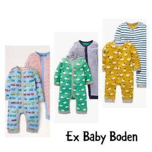 Boden Baby Boy One Train Animal Stripe Footless Romper Sleepsuit  3 6 9 12 18 24