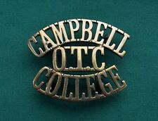 The Campbell College OTC Shoulder Title 100% GENUINE British Military Army Badge