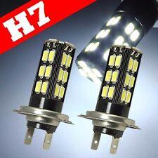 H7 Samsung Chip LED 30 SMD Super White 6000K Headlight 2x Light Bulb Low Beam