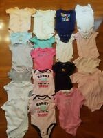 Lot Baby Girl Clothes Size 0 - 6 Months and 12 - 24 months, 58 Pieces