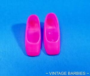 Barbie / Francie Doll Hot Pink Square Toe Shoes / Heels MINTY ~ Vintage 1960's