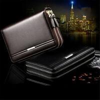 Men Leather Business Clutch Bag Handbag Wallet Purse Mobile Phone Card Tote
