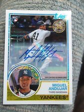 2018 Topps Miguel Andujar Silver Chrome Packs  Auto Rookie Card #62/199