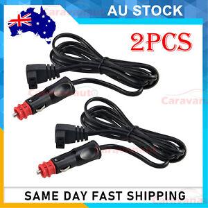 2X 12V Merit and Cigarette Plug to Waeco Fridge Adaptor 2m Power Lead Cable Cord