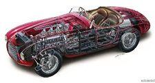 Ferrari 166S Cutaway Mini Poster 11X17