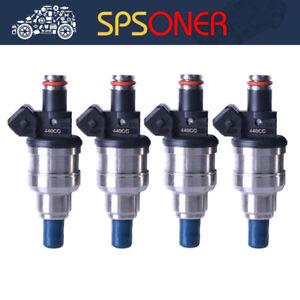 4x 440cc 42LB EV1 Fuel Injector for Honda Civic B16 B18 B20 D16 D18 F22 H22 H22A