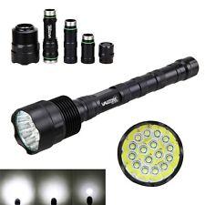 60000lm 16x XM-L T6 tattico LED Torcia elettrica militare Hunt Lampada 5modalità