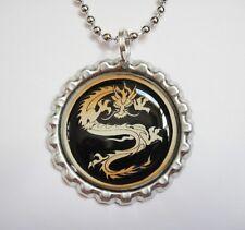 Beautiful DRAGON Bottle Cap Necklace 1C