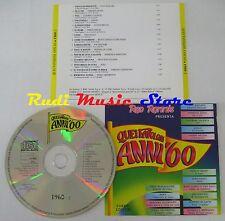 CD RED RONNIE favolosi anni 60 1960 2 ADRIANO CELENTANO GHIGO AGOSTI (C5*)*NO lp