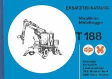 Ersatzteilliste Ersatzteilkatalog Mobilkran Mobilbagger T 188 Weimar Werk DDR