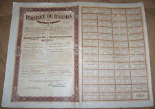 Argentina 5% External Loan 1909 Province Tucuman Bond Gold $100 Unissued coupons