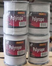 "4 rolls 1/4"" Horse polyrope 656' electric fence  White"