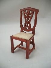 Victorian Side Chair - dollhouse miniature wooden furniture T3275 1/12 scale