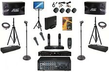 "PROFESSIONAL KARAOKE SYSTEM CAVS PLAYER SPEAKERS 19"" MONITOR 4 MICS 600 WATTS"