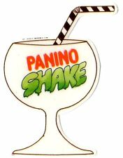 """PANINO SHAKE"" ADESIVO SAGOMATO (4 x 6,5) cm ANNI 80 EDIFUMETTO PREPPY PANINARO"