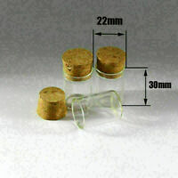 10pcs 5ml Empty Sample Vials Clear Glass Bottles with Corks Jars Small bottle