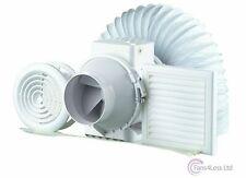 "Inline Shower Extractor Fan Timer Full Loft Duct Kit 4""/100mm Bathroom 187m3/hr"