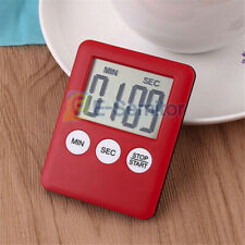 1Pc Red Large Digital LCD Kitchen Cooking Timer Count-Down Up Clock Loud Alarm
