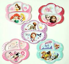 Zak! Designs 5 DIVIDED PLATE SET Melamine Disney Princesses Anna Elsa Minnie