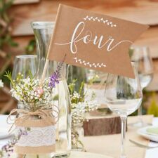 Rustic Country Flag Table Numbers 1-12 for Weddings & Parties