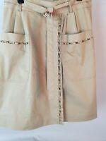 Elie Tahari Safari Wrap Skirt Sz 8