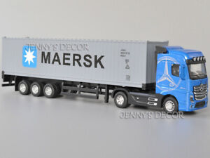 1:50 Scale Diecast Vehicle Model Toys Actros Tractor Container Truck With S&L