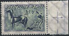 Pflüger MiNr. 196 vom Seitenrand mit Paßerkreuz postfrisch