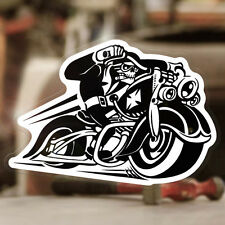Hell Biker Aufkleber Sticker Autocollante Bobber Chopper Old School Hellbiker