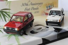 FIAT PANDA 34 & 45 30TH ANNIVERSARY SET 1980 2010 MINICHAMPS 402121430 1/43