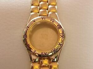 Ladies Bracelet and Case. Bright Gold Tone. For 6.75 x 8''' Quartz Mov't (JC089)