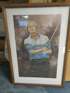JACK NICKLAUS AUTOGRAPH SIGNED LIMTED PRINT BY JEFF JOSEPH GOLDEN BEAR PGA
