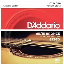 D'addario EZ930 85/15 Bronze Acoustic Guitar Strings Medium 13-56 FREE P&P