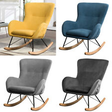 Recliner Rocking Chair Wing Back Armchair Occasional Accent Reclining Relax Sofa