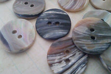 Vintage 20 Pieces 23 mm Mother Pearl Shell Round Button. Abalone Buttons