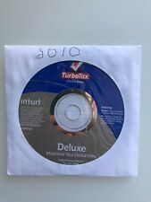 Turbo Tax Deluxe 2010 - Obsolete Software  Windows / Mac