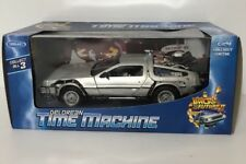 BACK TO THE FUTURE 2 II DELOREAN TIME MACHINE Welly 1:23 scale model car