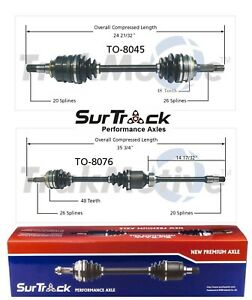 For Toyota Camry Celica GT GTS FWD Pair of Front CV Axle Shafts SurTrack Set